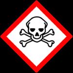 Odpady niebezpieczne - czaszka i skrzyżowane piszczele